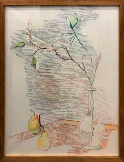 KIS Janos, 1932-2017,  N°73,  pastel sur...