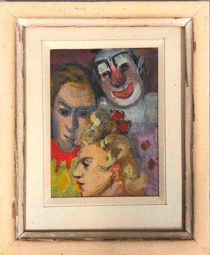 LAGAR Celso, 1891-1966,  Trois figures de...