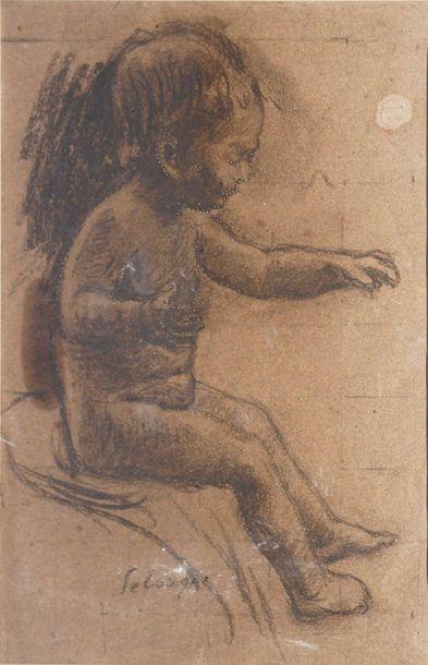 LEBASQUE Henri, 1865-1937  Enfant assis,...