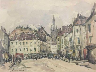LEUDET Jacques (XX)  Rue de Valenciennes,...