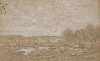 ROUSSEAU Théodore, 1812-1867  Marais dans...