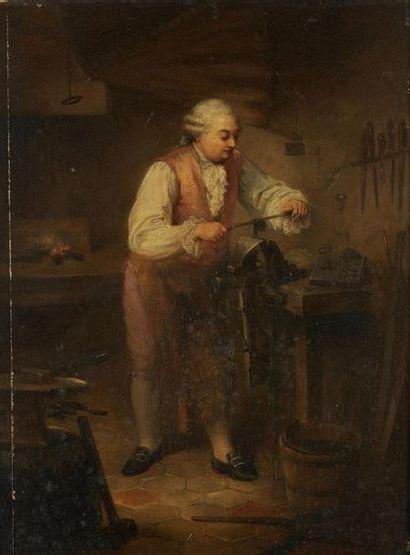 D'OLIVIER Louis Camille, 1827-1870  L'atelier...