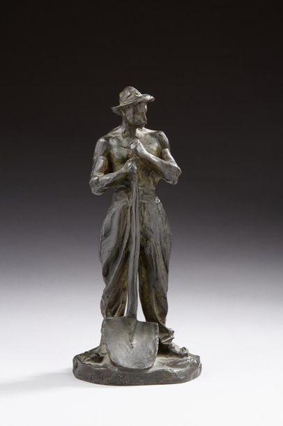 DALOU Aimé-Jules, 1838-1902  Le terrassier...