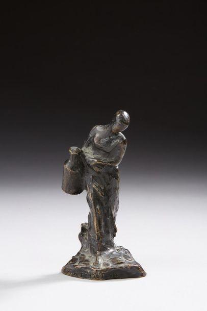 DALOU Aimé-Jules, 1838-1902  Laitière  bronze...