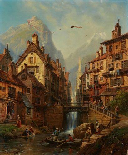 KUWASSEG Charles Euphrasie, 1838-1904  Canal...