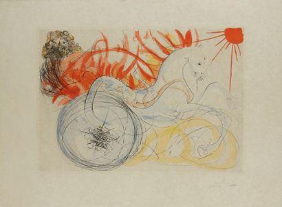 DALI Salvador, 1904-1989  Elijah, 1975  pointe-sèche...