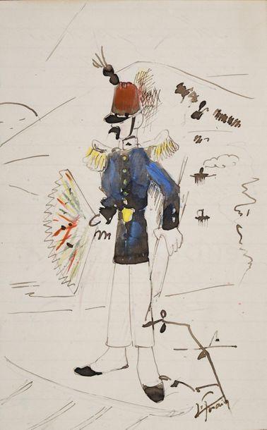FORAIN Jean-Louis, 1852-1931  Le Turluru-chanteur...