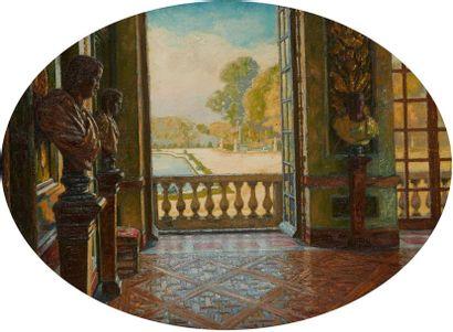 DELBEKE Léopold, né en 1866  Vue du salon...
