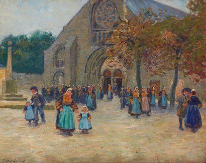 MADELINE Paul, 1863-1920  Sortie d'église...