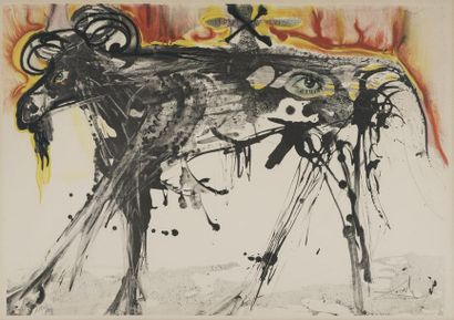 DALI El Salvador, 1904-1989  Le Bélier, after Gerard Dou, 1971  colour lithograph...
