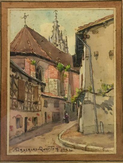 DESSALES-QUENTIN Robert (1885-1958)  Eglise...