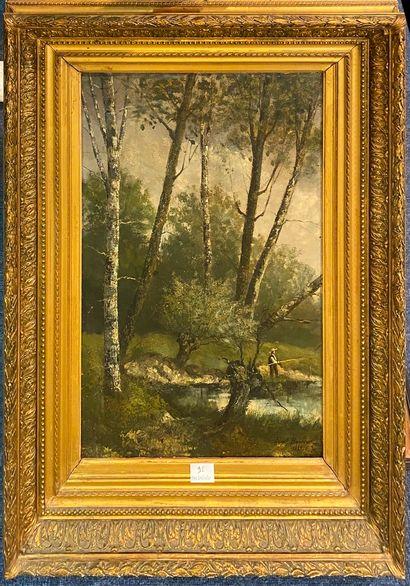 BONHEUR Ferdinand (1817-1887) Pêcheur au...