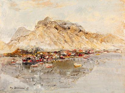 Michel JOUENNE, né en 1933  La montagne blanche...
