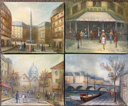 PABOIS Michel (né en 1939)  Les deux Magots-Place...