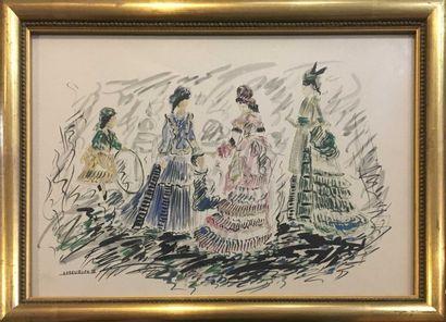 MEURICE André (XX)  Trois femmes et une petite...