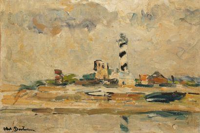Abel BERTRAM, 1871-1954  Le phare à Petit-Fort-Philippe...