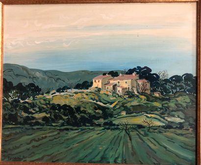 BARRERA Nicolas (1919-2006)  Mas en Ruine...