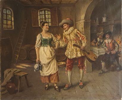 BONFILS Gaston (1855-1946)  Le galant dans...