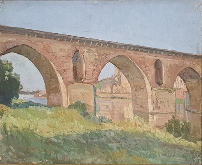 ZEZZOS Georges (1883-1959)  Le pont, Montauban...