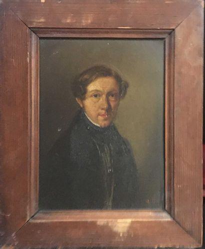 ÉCOLE FRANÇAISE XIXe siècle,  Portrait d'homme,...