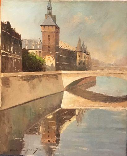 LEMP. André  La Conciergerie,  huile sur...