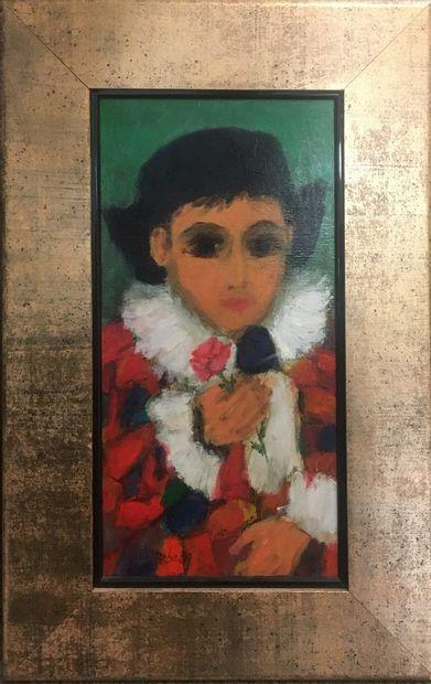 REBECQ Yann (né en 1955)  Le songe d'Arlequin,...
