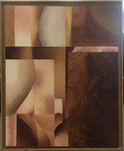 HUGON Genevieve née en 1945  Abstraction,...