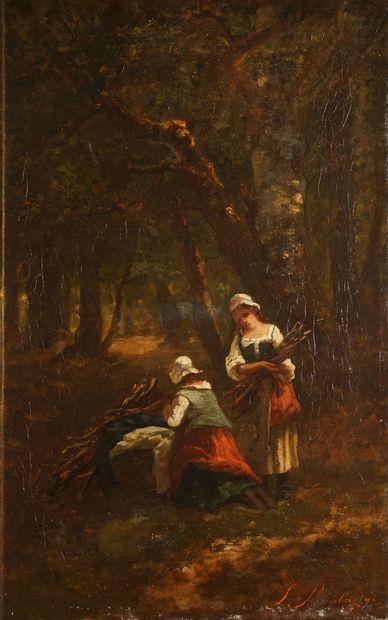 BOULANGÉ Louis, 1812-1878,  Les fagotières,...