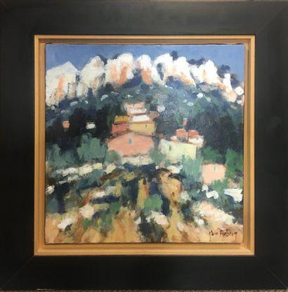REBECQ Yann, (né en 1955)  Hameau en haute...