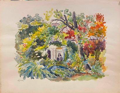 GIRARD Louis Auguste (1896-1981)  paysage...