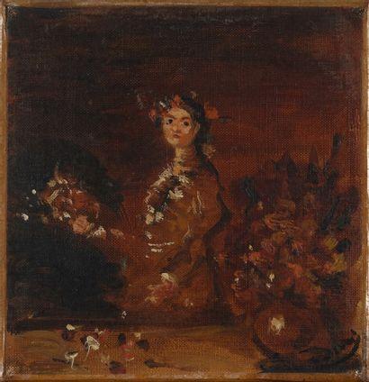 DERAIN André, 1880-1954  Femme aux bouquets,...