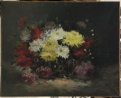 Ecole française (XIXème siècle)  Bouquet...