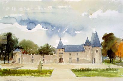 PREKAS Paris (1926-1999)  Chateau Yquem, 9-10-1977  Aquarelle, signée, située et...