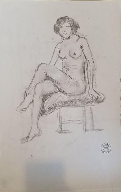 SORLAIN Jean (1859-1942) [Paul Denarié dit]  Etudes, nus féminins majoritairement...
