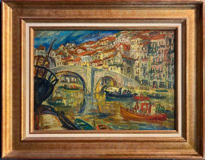 SOURDILLON Berthe ( 1895-1976) Ondaroa (Espagne...