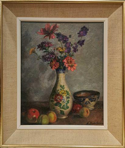 Sigard Fredriksen (1907-1986)  Bouquet au...
