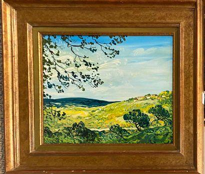 PASCALET Pierre (1915)  Deux huiles sur toiles...