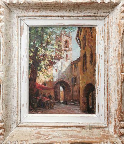 GALZENATI A., XXe siècle,  Place au clocher,...