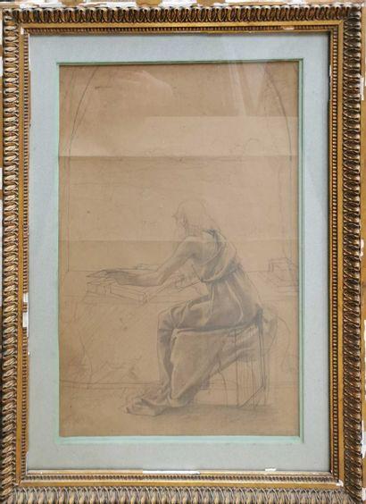 VALÈRE-BERNARD, 1860-1936,  Vieil homme étudiant...