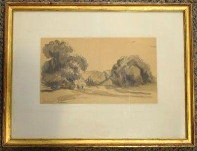 LUCE Maximilien (1858-1941)  Paysage arboré...