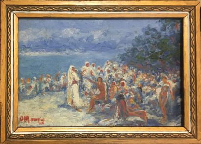 SAUVEUR Maury Georges , 1872-?  A la plage...