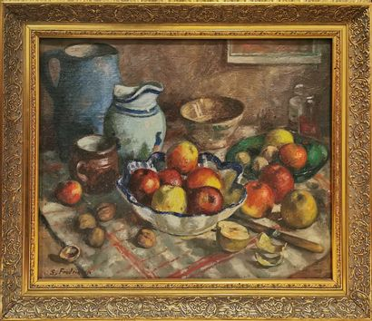 SIGARD Fredriksen (1907-1986)  Coupe de fruit...