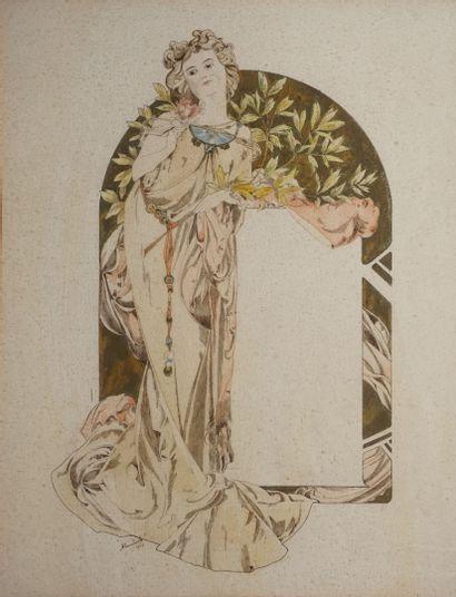 CUVILIERT A., fin XIXe début XXe  Projet...