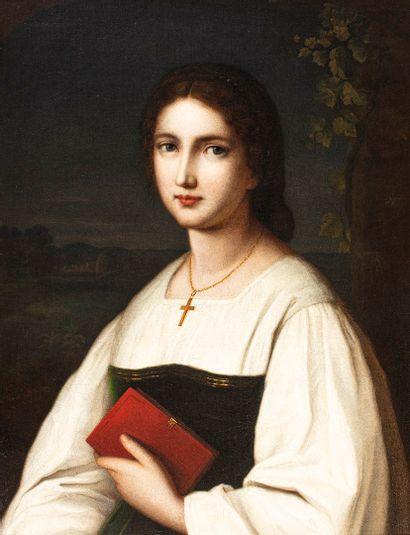 SCHMITT Nathanael, 1847-1918  Jeune femme...