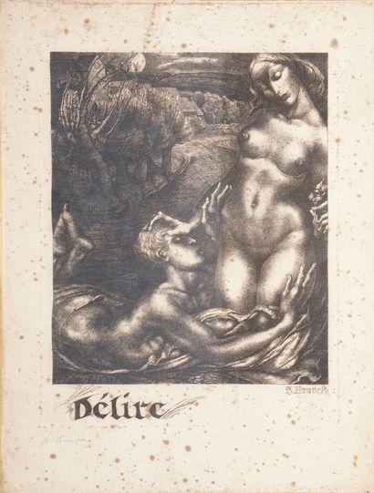 BRUNCK OF FREUNDECK Richard, 1899-1949,  Delusional,  etching in black, n°19/50...