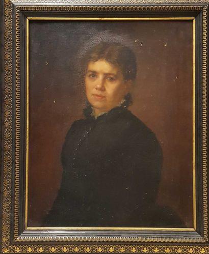 PROSALENTIS (XIX-XXème)  Portrait de femme,...