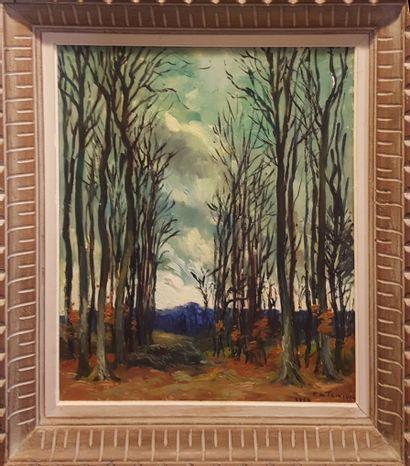 LE TRIVIDIC Pierre (1898-1960)  La forêt...