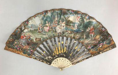 Récoltes et plaisirs champêtres, vers 1760-1770...