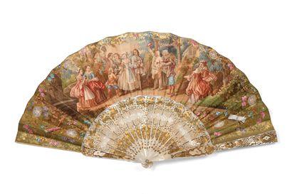 Vive la mariée ! vers 1850-1860  Éventail...