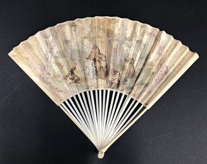 Les pêcheurs, vers 1720-1740 Étonnant éventail...